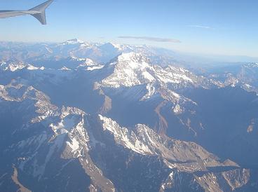 Los Andes desde el avión