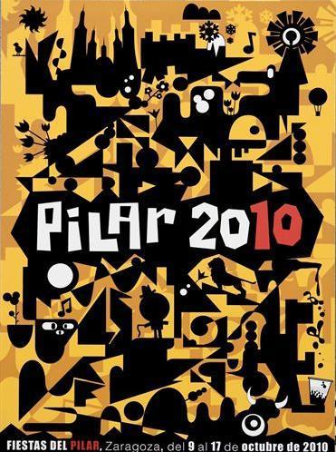 cartel fiestas pilar 2010 zaragoza