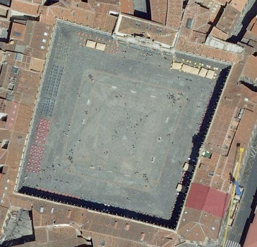 imagen aérea plaza mayor salamanca