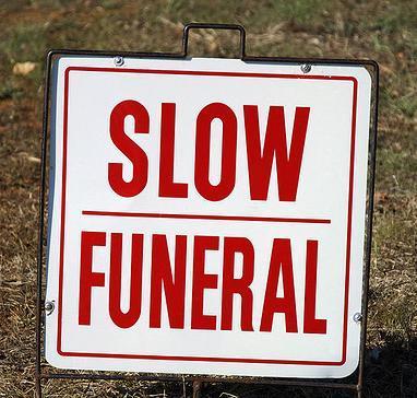 cartel de funeral