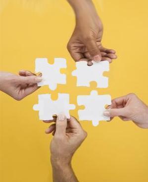 unidad de acción colaboración en grupo