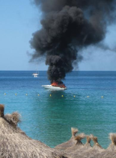 incendio lancha camp de mar mallorca