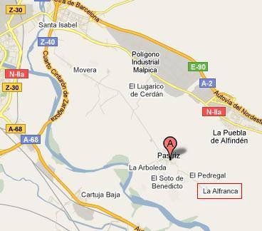 mapa pastriz la alfranca galacho