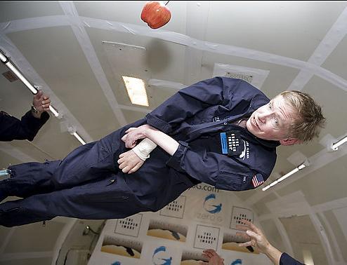 stephen hawking en ingravidez espacial