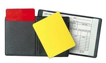 tarjetas de árbitro en el laudo arbitral