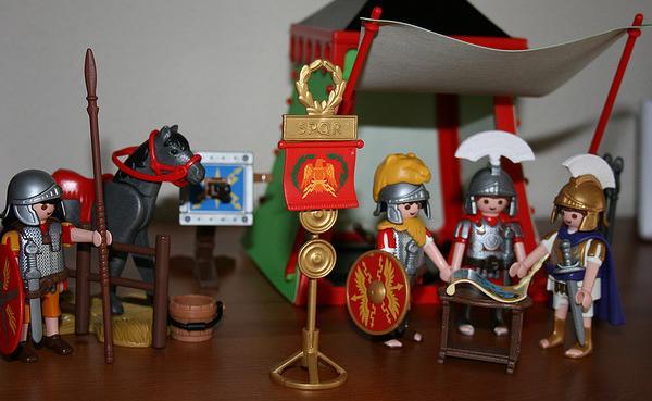 muñecos de guerra clicks de famobil romanos