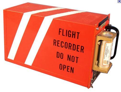 caja negra avion registro datos de vuelo