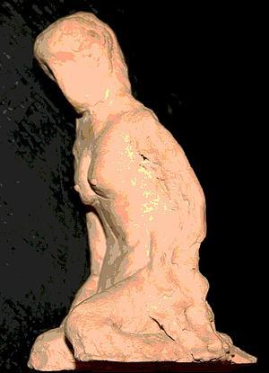 modelar al hombre en barro