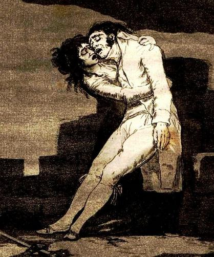 el amor y la muerte de los grabados de goya