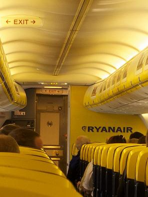 interior de un Ryanair