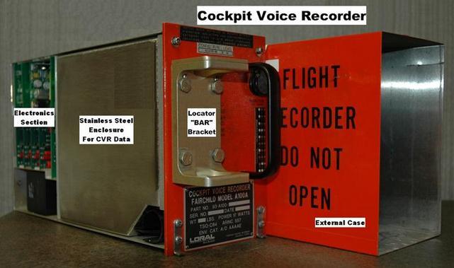cockpit voice recorder grabador de voz en cabina