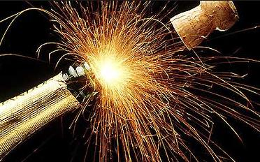 descorchando champagne